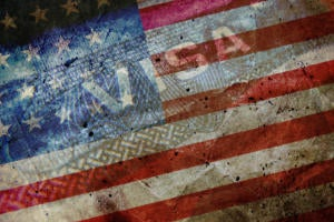 H-1B visa american flag