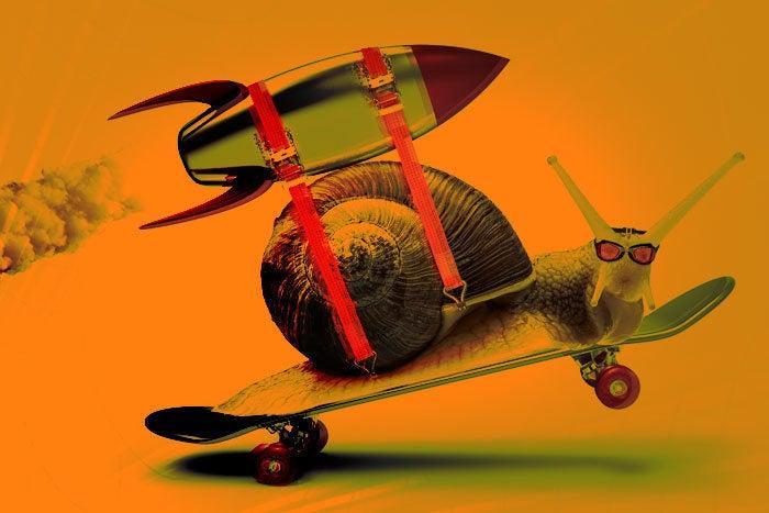 snail rocket fast speed