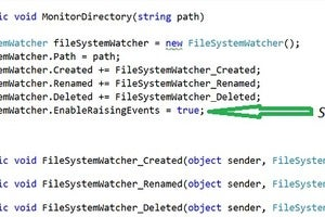 How to work with FileSystemWatcher in C#