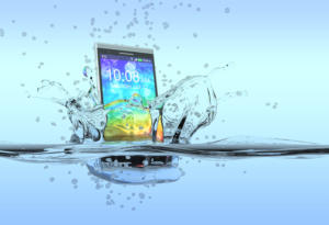 smartphone in water