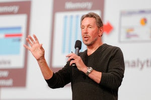 Larry Ellison on Stage